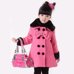 5a48268ca China Girls Fashion Lovely Pink Worming Kids Wool Winter Coat Woolen ...