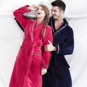 Fleece winter robe