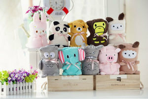 Cartoon Animal Coral Fleece Children Newborn Baby Blanket Throw (B14102) pictures & photos