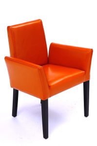 Bonded Leather Restaurant Furniture Restaurant Chair Armchair (GK723)