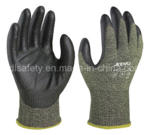 PU Dipping Anti-Cut Work Glove with Steel Fiber (NK3047) pictures & photos