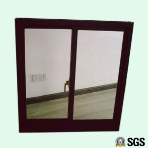 Powder Coated Red Colour Crescent Lock Aluminum Sliding Window K01022