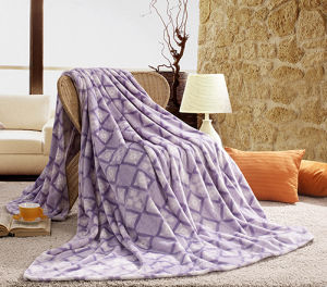 Luxury Purple Fleece Blanket Quilt