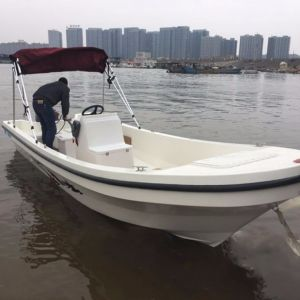 18FT Outboard Engine Type Fiberglass Fishing Panga Boat pictures & photos