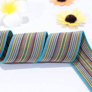 100% Polyester Jacquard Band Elastic Webbing for Sewing