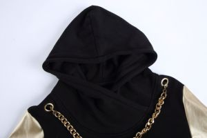 New Design Hip Hop Men PU Hoodies Sweatshirts pictures & photos