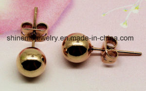 Shineme Jewelry Fashion Single Clear Stone Earring Ear Stud (ER2913) pictures & photos