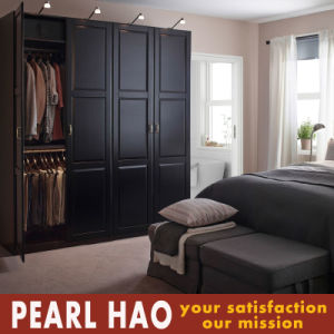 Luxy Black Open Door Wooden Wardrobe Closet pictures & photos