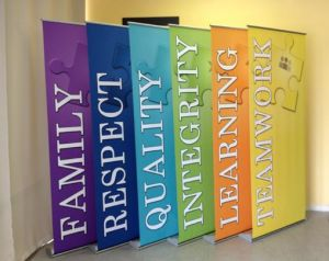 High Quality Fabric Banner Stands for Trade Shows and Events