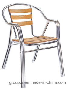 Wood Slats Chair, Aluminium Pole Chair