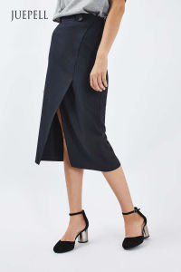 Pinstripe Wrap MIDI Skirt pictures & photos