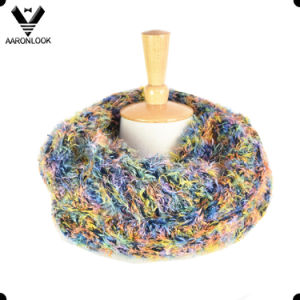 2017 New Fashion Long Hair Multicolor Knitted Circle Loop Scarf