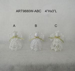 Christmas Decoration White Crochet Angel pictures & photos