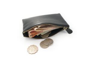 Unisex Real Leather Small Zip Coin Bag//Pouch//Wallet//Coin//Key Purse New