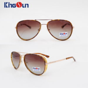 Metal and Plastic Rim Combined Fashion Sunglasses Ks1103 pictures & photos