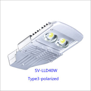 40W Bridgelux Chip LED Street Lamp with Inventronics Driver (Polarized)