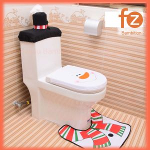 China 3 In 1 Christmas Santa Claus Bathroom Toilet Seats Cover Christmas Decoration Fz050001 2 China Gift And Toy Price