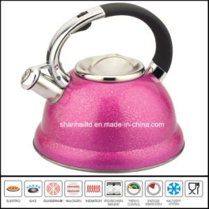 Whistle Kettle Pot Tea Kettle 3L Color Stainless Steel Tea Set Kitchenware Cookware pictures & photos