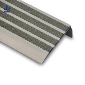 Anti Slip Carborundum Aluminum Stair Nosing pictures & photos