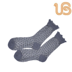 Women′s Jacquards Dots Silk Sock pictures & photos