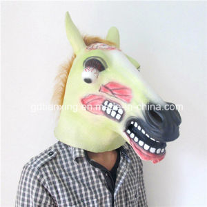 New Style Latex Halloween Scary Zombie Horse Head Mask pictures & photos