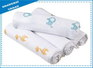 100% Cotton Muslin Swaddle Blanket pictures & photos