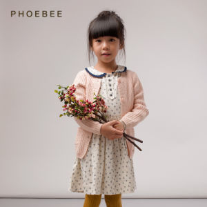 Phoebee Wholesale 100% Cotton Knitting/Knitted Kids Clothing for Girls pictures & photos