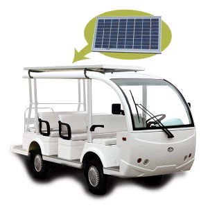 Solar Panel Electric Sightseeing Bus (DEL6082K, 8-Seater) pictures & photos