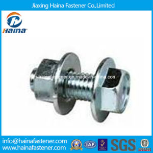 Zinc Plated Hex Flange Bolt and Nut pictures & photos