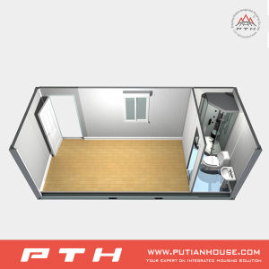 Modular 20 Feet Container House for Dormitory, Single Department pictures & photos