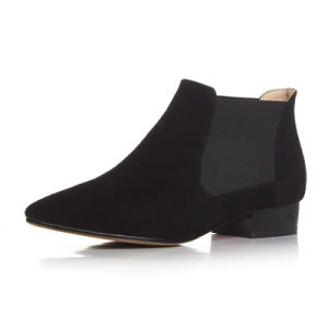 Low Heel Sharp Toe Ankle Boots