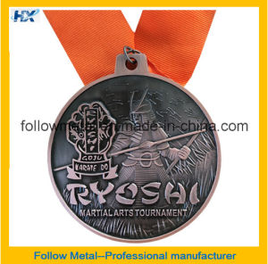 Antique Finish Marathon Medals with 3D Design
