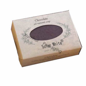 Custom Quality Chocolate Soap Packaging Box with Window
