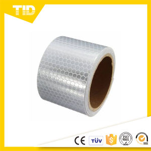 White Honeycomb Reflective Warning Tape for Safety pictures & photos