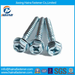 M6 Zinc Plated Phillips Hex Washer Head Screw pictures & photos