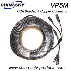 CCA Braided and Copper Conductor Siamese CCTV Cable (VP5M) pictures & photos