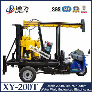 Xy-200t 200m Depth Tractor Mobile Drilling Rigs for Sale pictures & photos