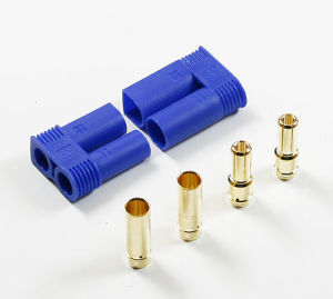 5.0mm Gold Plated Connector with Blue Ec5 Plastic Housing