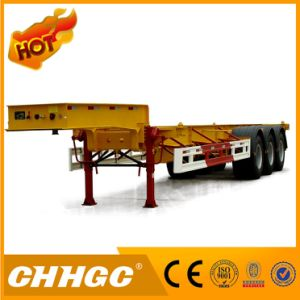 48FT 3axle High Quality Skeleton Container Semi Trailer with Gooseneck