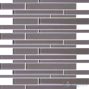 Linear Bullet Purple Crystal Glass Tile for Wall