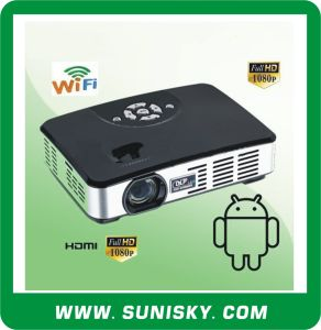 Newest Android WiFi Mini Portable HD Projector (SMP7047) pictures & photos