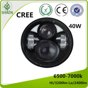 5.75 Inch 40W Round LED Headlight for Motorcycle pictures & photos