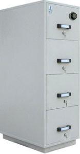 Fire Resistant Filling Cabinet, Metal Filing Cabinet, 4 Drawer Safe Storage  Cabinet