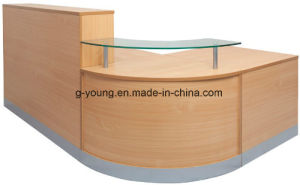Modern Curved Counter Table Reception Desk Office Furniture