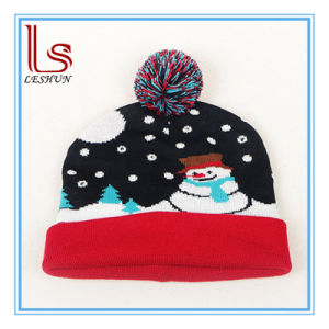 Knitting LED Lamp Cap Christmas Various Colour Glow Hat Party Hat Festival Gifts pictures & photos