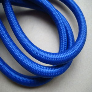 Dark Blue Fabric Power Electric Wire (BYWC)