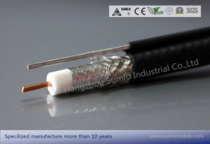 Rg11 Drop Coaxial Cable 60% up to 90% Shield, Black PVC /PE Jacket pictures & photos