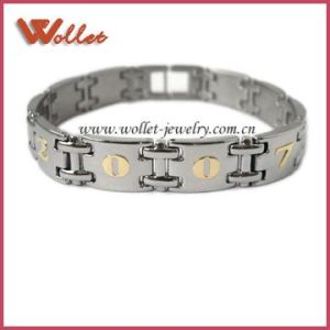Stainless Steel Magnetic Bangle with Number (STB-0020G1)