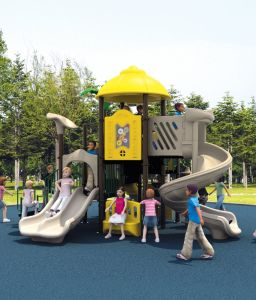 Used School Outdoor Plastic Playground Equipment for Sale pictures & photos