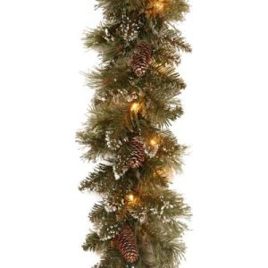 9 FT. Long Frosted Tips Christmas Garland with 50 LED Lights (MY205.447.00) pictures & photos